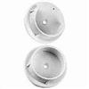 Pole Socket White Plastic Closet 2/Pk N243-659 0