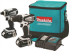 "Combo Kit Makita 18V Ct200Rw 1/2""Drill Impact Driver,2 Batteries, Bag. Compact 0"