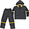 Rainsuit-2Xlrg  Blk Nyl 3Pc R1032X 0