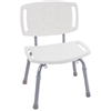 "Chair-With/Back White Handicap 11""X19""Fb5 0"