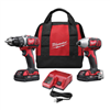 Drill Milwaukee Drill Impact Driver Compact w/ 2-Batteries,1-18V Charger M18 2691-22 0