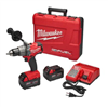 "Drill*D*Milwaukee Drill/Driver XC Kit 1/2"" Drive w/(2) 5.0Amh Batteries & Charger M18 2703-22 0"