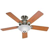 "Ceiling Fan Hunter 52"" Brush Nickel 53249/28723 0"