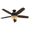 "Ceiling Fan Hunter 52"" New Bronze 1Lt 53091 0"