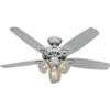 "Ceiling Fan Hunter 52"" White 3Lt 53236 0"