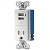 Receptacle Combo 15A/Usb White Tr7740W-K 0