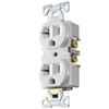 Receptacle Duplex White Br20W 20Amp Grounded 0