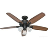 "Ceiling Fan Hunter 52"" Oil Rub Bronze 53238 0"