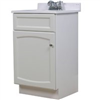 "Vanity-18""X16"" Wht Heartland W/Top 1Door Hew1816 0"