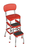 Chair Step Stool Red Retro 0