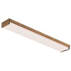 Light Fixture Fluorescent 48X4 T8 Plwkr432War8 Oak Ends & Siderails W/Lens 4Bulb 4Foot 0