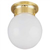 "Light Fixture Ceiling Polish Brass 6"" Round Globe F3Bb01-33753L 0"