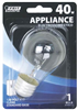Bulb Appliance Incandescent 40W A15 Clear Medium Base Dimmable Bp40A15/Cl 0