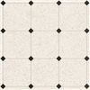 "Floor Covering*D*Ft 61338 Royelle    F1P1 Glossy White W/Small Black Diamnds 4.50"" 0"