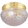 Light Fixture Ceiling Polish Brass Clear Ribbed Globe F13Bb01-68583L 0