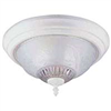 "Light Fixture Ceiling White 13"" Round Floral Shade F155Ww02-1068Ec3L 0"