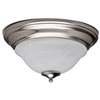 Light Fixture Ceiling Satin Nickel Alabaster Glass Brt-Ate1012-Sc3L 0