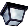 Light Fixture Exterior Ceiling Black w/ Frosted Glass 6276Bk3L 0