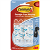 Command Strips Hook w/ Adhesive Mini 6Pk 17006CLR 0