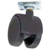 "Floor Care Caster Black 2-Wheel Swivel 1-5/8"" Jc-F01 0"