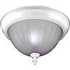 "Light Fixture Ceiling White 13"" Round Frosted Glass F51Who2-1005-3L 0"