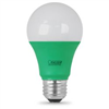 25-Watt Equivalent Dimmable A19 E26 Green Colored Clear Glass LED Bulb A19/TG/LED 0