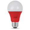 25-Watt Equivalent Dimmable A19 E26 Red Colored Clear Glass LED Bulb A19/TR/LED 0