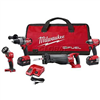 "Combo Kit Milwaukee 2796-24 1/2"" Hammer Drill, Reciprocating Saw, 1/4"" Impact Driver & Flashlight M18 0"