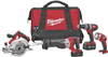 "Combo Kit Milwaukee 2694-24 1/2"" Drill/Driver, Reciprocating Saw, 6-1/2"" Circular Saw & Flaslight M18 0"