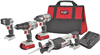 "Drill Porter Cable 20V Combo Kit 1/2"" Drill Driver, 1/4"" Impact Driver, Reciprocating Saw, LED FlashLight, 2-Batteris & Charger Pcck615L4 0"