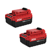 Battery Pack-Porter Cable Pcc685Lp 20V (2Pk) 4.0-Amp Hour Li-Ion 0