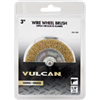 "Wire Wheel 1/4""Shank 3"" Courase Vulcan 0"
