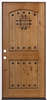 "Door Unit Knotty Alder w/ Clavos 3068 Lh Open In 4-5/8"" Fj Jambs Prefinished No Casing Double Bore 0"