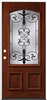 "Door Unit Mahogany Iron Grill M54 3068 Lh Open In 4-5/8"" Fj Jambs Prefinished No Casing Double Bore 0"