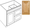 "Vanity 30""X21""Country Oak 1Dr 2Dwr V3021D Plywood Box 0"