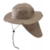Hat-Aussie Cloth W/Flap Khaki Medium W/Chin Cord 0