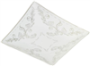 "GLASS SHADE-FLORAL SQUARE WHT 12""8180700"