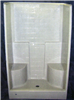 "Shower*D*F/Glass Bone Tile 48"" S644 2Seats 0"